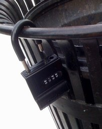 Boston money cache combo lock - look for these!